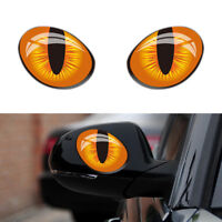 BG_ HK- 1Pair 3D Cat Eyes Stickers Car Window Rearview Mirror Reflective Decor D