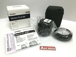 【NEW in BOX】 Sigma Art 30mm F/2.8 DN Black Lens For Micro Four Thirds from JAPAN