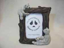 2001 Second Nature Design, Quarry Critters Picture Frame- Bears