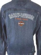 Harley-Davidson Womens Small Denim Jean Jacket Biker Motorcycle V-Twin Power