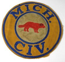 "Michigan MICH. CIV. Detroit 6.5"" Patch Wolverine 1920's Rifle Pistol Shooting"