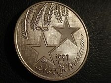 CHRISTMAS 1991 STARS FOR SOMEONE SPECIAL .999 SILVER 1 OZ ROUND COIN IN CASE!