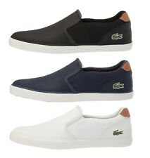 ac8bea317 Lacoste Jouer 119 Men s Casual Slip on Croc Logo Leather Loafer Shoes  Sneakers