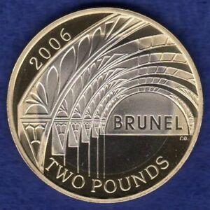 Great Britain, 2006 Proof £2 Coin, 2 Pound, Brunel Achievements (Ref. t4034)