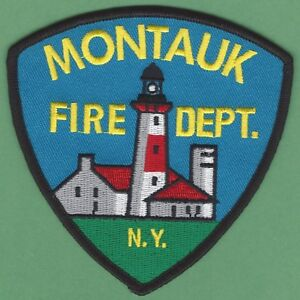 MONTAUK NEW YORK FIRE RESCUE PATCH LIGHTHOUSE