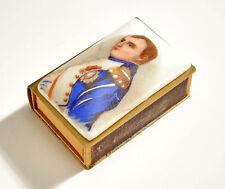 Vintage Napoleon Painted Enamel - MatchBox Match Holder