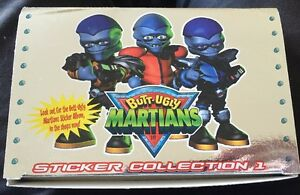 BUTT UGLY MARTIANS Tv Series Full Box Of Stickers 100 PACKS Packets Rare Space