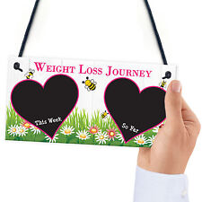 Weight Loss Tracker Chalkboard Journey Hanging Plaque Gift Slimming World Sign