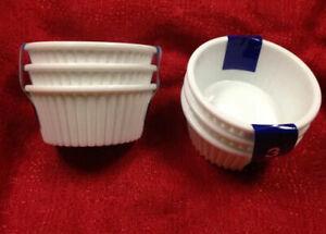 6 White Ramekin Sauce Cups -Side Sauce Dish Salsa Dip Bowl 4oz each Brand New