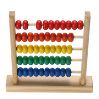 Wooden Colorful Bead Abacus Counting Maths Kids Learning Educational Toy Gift