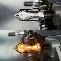 4 Motorrad Led Mini Blinker Laufeffekt Lauflicht Schwarz Vorne Hinten 12-15V