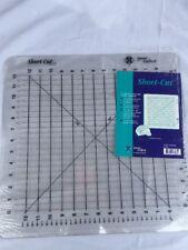 "Short Cut Ruler Rotary Cutting Tool Cutter Mat Multiple Strips 16X16.5"" Quilting"