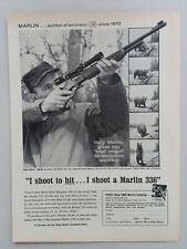 1962 Marlin Firearms Model 336-SC Rifle Scope Bear Hunting Vtg Magazine Print Ad