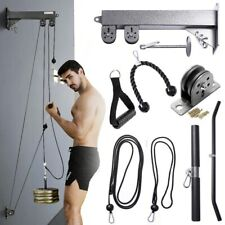 Pulley Cable Machine Attachment Training Lat Pull UP Down Home Gym Workout Both