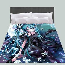 Japan Anime Bed Flat Sheet Vocaloid Bedspreads & Coverlets Hatsune Miku Blanket