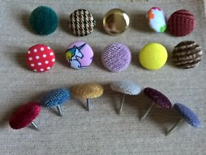 12mm or 17mm Nail Back Upholstery Buttons Covered In Your Own Fabric 30L Top