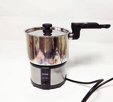 Electrom EAT-15S Mini Electric Multi Cooker Pot Stainless Travel Camping110~240v