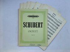 Noten. Schubert.  Oktett. Op. 166.   Stimmen.