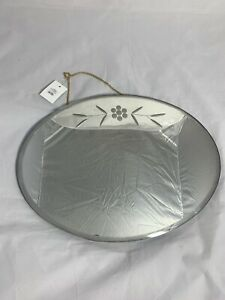 Oval Retro Etched Mirror By Urban Outfitters RRP £55