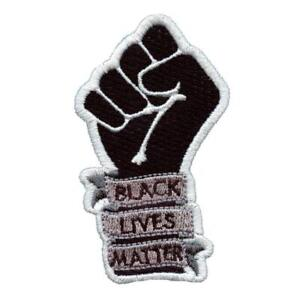 """BLACK LIVES MATTER IRON ON PATCH 3"""" BLM Power Fist Racial Equality Movement NEW"""