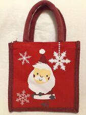 Tesco Christmas Santa Jute Tote Bag Red Reusable 2014 UK Holiday Juco New Snow