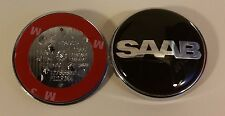SAAB  Black Logo 9-3 and 9-5 RESIN DOMED BONNET BADGE BRAND NEW PART
