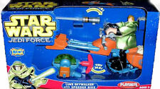 Star Wars Playskool Luke Skywalker & Speeder Bike Jedi Force Toy MIB Ages 3+