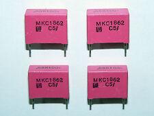 4 x NOS ERO 0.68uF .68uF 100V 10% MKC1862 Radial Polycarbonate Capacitors