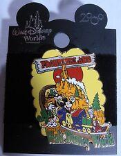 Disney Pin 159: WDW Frontierland Mickey & Goofy Train 2000 Logo New