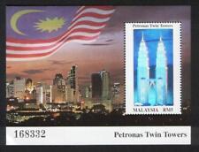 [KKK] 1999 MALAYSIA PETRONAS TWIN TOWERS (HOLOGRAM M/S) MNH