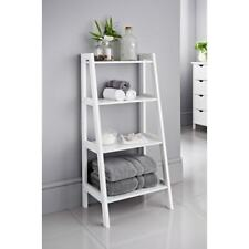 New Elegant Maine Ladder Shelf Bathroom Storage Unit White Perfect To Display