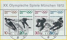 B.1 - BRD Bund Olympische Spiele 1972 Mi.684-687 Block6 ESSt. München LUXUS!