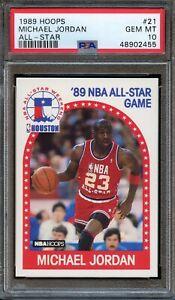 1989 Hoops #21 Michael Jordan AS PSA 10 Bulls