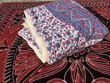Couette ethnique fait main en Inde Mandala Fleurs violettes Dessus de lit Coton