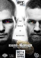 UFC 229 Khabib Nurmagomedov contro, Conor Mcgregor Foto Stampa Poster Las Vegas