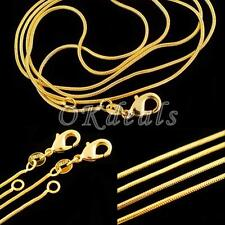 1.2 Mm Simple 16-30 Inch Jewelry 18K Yellow Gold Filled Snake Chain Necklace