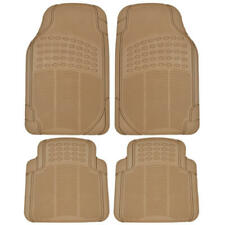 Beige Tan Heavy Duty Dirt Trapping All Weather Rubber Floor Mats Liners 4pc