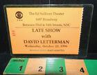 Late Show with David Letterman Ticket Stub Oct 23 1996 - Nathan Lane Mara Wilson