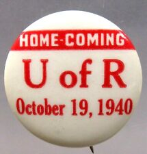 "1940 RUTGERS HOMECOMING football 1.25"" pinback button  ^"
