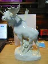 More details for  lomonosov ussr.,very large moose figurine, two small antler chips,hence price