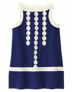 NWT Gymboree Mod About Orange Royal Blue Geo Shift Dress SZ 5 girl