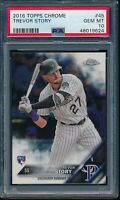2016 Topps Chrome Trevor Story RC Card #45 PSA 10 Gem Mint Rookie