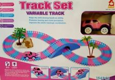 Children Kids Fun Car Pink Flexible Variable Track Set Racing Game