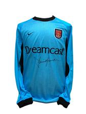 David SEAMAN artilleurs signé Nike Arsenal gardien football shirt COA preuve