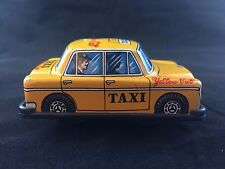 Vintage Japan Tin Wind Up Litho Taxi Cab