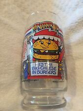 VINTAGE 1986 McDonald's McVote QUARTER POUNDER with CHEESE GLASS Free Shipping