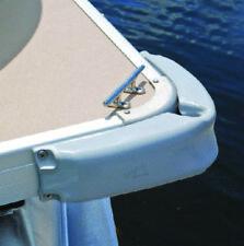 "Taylor Made Pontoon Boat Marine Corner Fender Bumper Guard 3"" x 12"" Silver 31038"