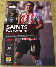 Portsmouth Away Team Football Programmes with Match Ticket