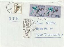 1998 Poland cover sent from Konin to Dortmund Germany
