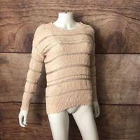 LC Lauren Conrad Knit Top Women's Size XS Long Sleeve (A69)